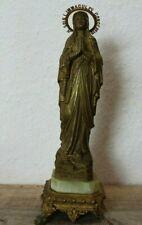 Figur Frau N.D.De Lourdes Alt Marmol/Metall.H ca.31cm