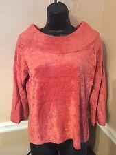 Women's - Rafaella Petites - 3/4 Sleeve Sweater - Sz M - Soft -Warm -Pink -Coral