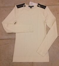 Ralph Lauren Cotton Top White Jersey Size S NEW RRP £75