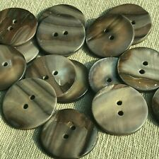 """Lot 20 40L 1"""" 25mm Grey Real Shell Button Sewing Jacket Coat Mother of Pearl MOP"""