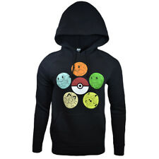 POKEMON Mens Hoodie Pullover Sweater Nintendo Go PokeBall PIKACHU Cool Anime NEW