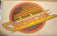 "Vancouver Canucks Skate Logo Iron On Heat Transfer Colored Glitter 6""x9"" NHL"