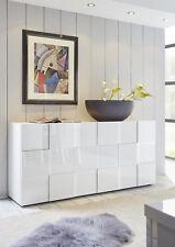 Credenza Moderna, Madia di Design, 3 ante, Bianco Lucido
