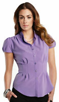 Tri-Mountain Women's Mandarin Collar Short Sleeve Woven Winter Shirt. LB751
