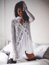 Free People White Lace Secret Origins Tunic Mini Dress M Rare