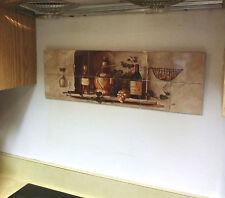 "Hangable Tile Mural  / Kitchen Backsplash / Kitchen Art / Tile Art (8.5""x25.5"")"