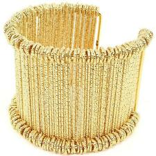 LUXE Statement Celeb Hot Multi Wired Gold Cuff Bangle Bracelet by Rocks Boutique