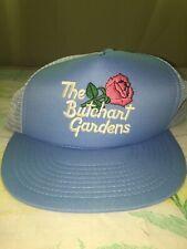 Vintage The Butchart Gardens Light Blue Trucker Hat Snapback Wilson Canada