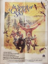 IN SEARCH OF A GOLDEN SKY 1984 Original VHS Movie Poster 28x38 Folded