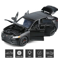 1:32 Jaguar F-Pace SUV Diecast Model Car Toy Collection Sound&Light Pull Back