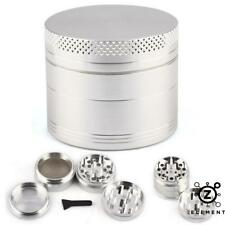 40mm Silver Metal Aluminium Hand Grinder 4 Part Tobacco Herb Crusher Muller IE