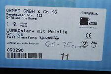 ORMED LUMBOSTAR PLUS GR XS HÖHE 20cm RÜCKENORTHESE mit PELOTTE 60-74cm NEU