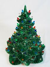 "Arnels 15"" Replacement Ceramic Christmas Tree & 141 Twist Bulbs Top Only No Base"