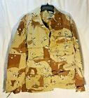 Coat, Desert Camo, Combat, Large Regular *Discounted for stains/Will wash out*