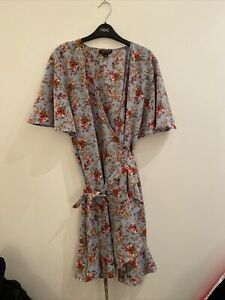 Topshop Ditsy Print Tea Dress (wrap Dress)