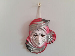 Venetian Masquerade Mask Ceramic Decorative Wall Hanging Mask