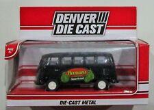"""Denver die cast VW herman's van black Menards exclusive diecast approx 3.5"""""""