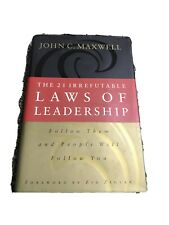 The 21 Irrefutable Laws of Leadership John C Maxwell Self Help Hard Cover 1998