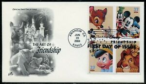 UNITED STATES 2004 DISNEY BLOCK II ON ARTCRAFT FIRST DAY COVER