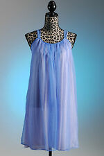 Vintage 1960's blue Lisette nightgown size M, Made in the USA, NOS/NWOT Nightie