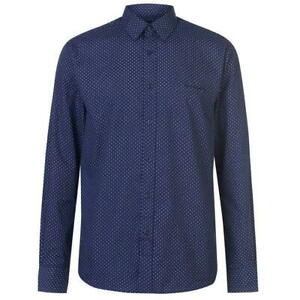 Pierre Cardin Shirt Long Sleeve Navy Size Medium New with Tags
