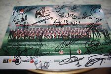 poster A4 )) LOU Rugby Signé par toutes l'équipe - saison 2014/2015