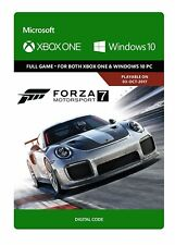 Forza Motorsport 7 XBOX ONE Windows 10 PC GAME Digital Download Code (no disc)