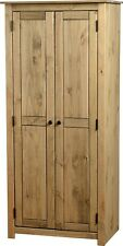 Panama 2 Door Wardrobe in Natural Wax