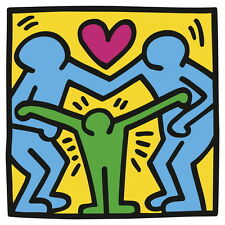 Untitled (Three Figures), Giclee Print, Keith Haring