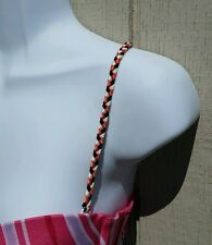 Braided Bra Straps - Orange, Black, White - Decorative Replacement Convertible