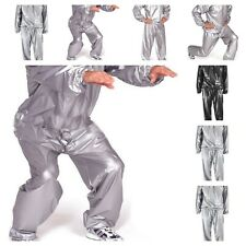 Sweating Weight Quick Dry Fit Loosing Silver Clothing Gyms Workout Sauna Suits