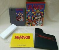 DR. MARIO Game Nintendo NES with Box & Instruction Booklet Vintage 1990