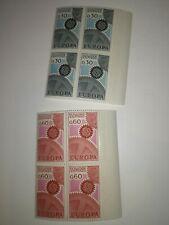 2 blocs de 4 bord de feuille andorre europa cept 1967 cote  de 100 euros xx