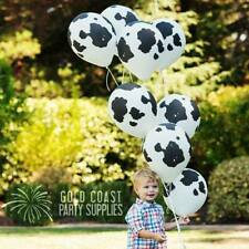 Party Birthday Supplies Rodeo  Western Holstein Cow White Balloons Pack of 10