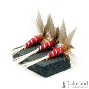 3, 6 or 12x Red Spinner Dry Trout Flies for Fly Fishing