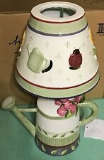 Homco Home Interiors Candleholder with Shade Watering Can New n Box Green Purple
