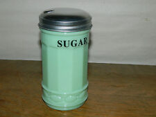 "Jade Milk Glass Jadeite 5 1/2"" Tall Sugar Server Jar w/flip spout ~New"