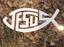 Christian Sticker - Jesus God Fish Faith Believer