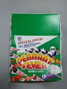 1983 Leaf NFL Pennant Fever Wax Box 24 Mini-Pennants Old Stock Case Fresh