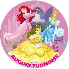 Cialda - Ostia per torte Principesse Disney - tonda! Anche A3 personalizzabile