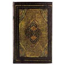 Book Box Hidden Jewelry Secret Fake Faux Vintage - Yellow & Black Antique Lined