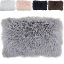 "100% Real Mongolian Lamb Wool Fur  Protector Pillow 30x50cm  pillowcase 12x20"""