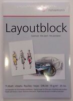 Layoutblock A4 Hahnemühle Markerblock Copic Marker Papier 75 Blatt Art.10625040