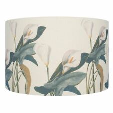 40cm Jenny Worrall Arum Lily Linen Cylinder Shade