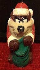 "RARE Vintage Looney Tune TAZ Santa Tasmanian Devil Wax Candle Christmas 13"" TALL"