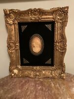 Burswood Wall Plaques Vintage  Cameo Profile of a Young Woman Free Shipping