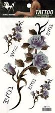 Temporary Tattoo Roses on a Vine Body Art Removable HM191
