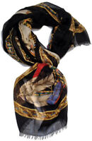 Versace Collection Women cashmere Scarf Shawl Made Italy in BOX sciarpa foulard