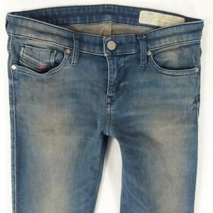 Womens Diesel SKINZEE-LOW-ZIP 084XF Stretch Skinny Blue Jeans W28 L28 Size 8