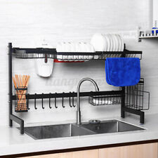 82cm Cutlery Drying Dish Rack Stainless Steel Over Sink Storage Kitchen Holde